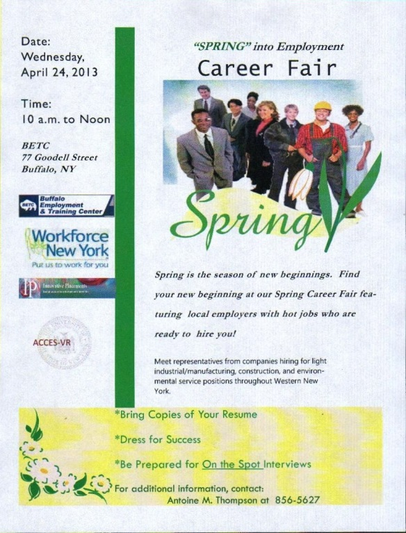 Spring Career Fair Flyer