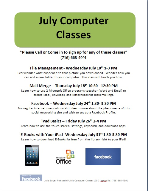 NEW JULY CLASSES